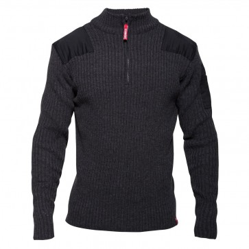 8017-501 Combat Knitwear With High Collar
