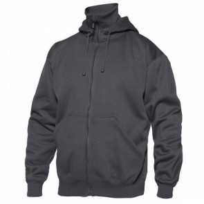 0804-233 Hooded sweat jacket with collar